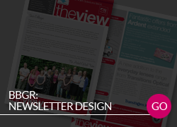 BBGR newsletter design