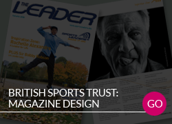 British Sports Trust Magazine design
