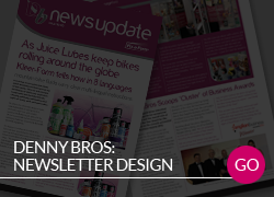 Denny Bros Quarterly Newsletter Design