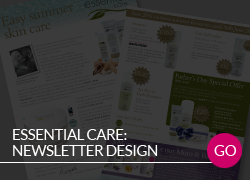 Essential Care Newsletter Design