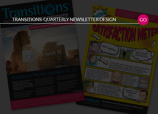 Transitions Quarterly Newsletter Design
